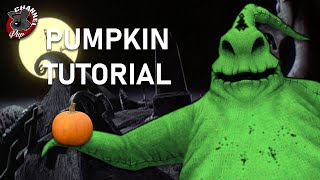Making an Oogie Boogie Pumpkin - That Disney Princess Life
