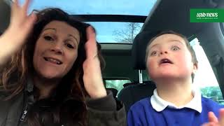 Video goes viral: mums' Down's syndrome doing carpool karaoke