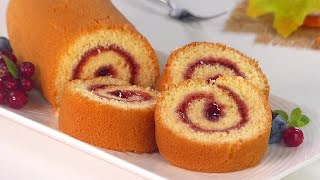 10 minutes Swiss Roll Cake without Oven | Basic swiss Jam roll cake recipe in frypan by Tiffin Box screenshot 3