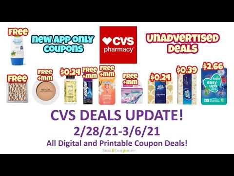 CVS Deals Update 2/28/21-3/6/21! Glitches! All Digital and Printable Coupon Deals!
