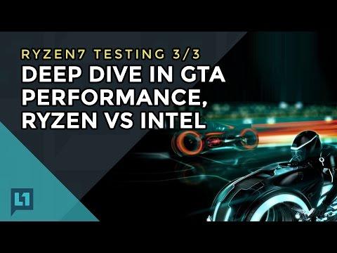 Gameplay/Frametimes of GTA V on Ryzen & Intel   Level One Techs