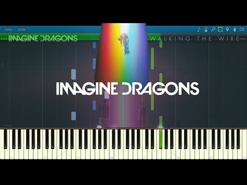 Walk The Wire Synthesia - Imagine Dragons - Piano Tutorial Easy