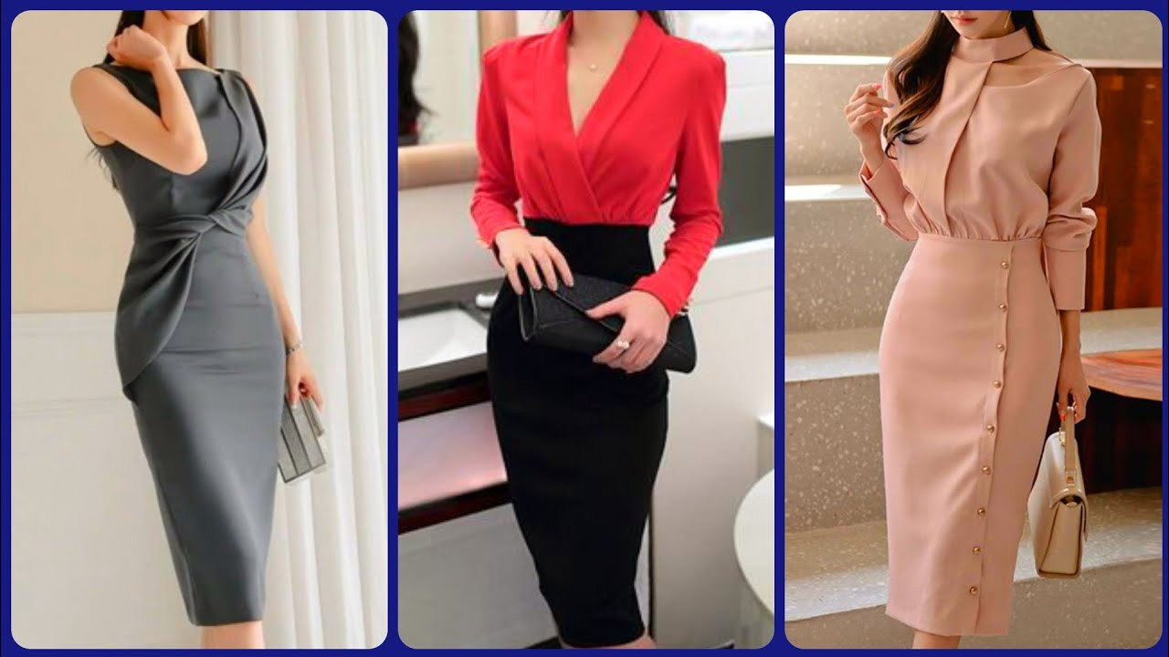 outstanding brilliant and Stylish office wear pancil bodycon outfits ideas for working Women's