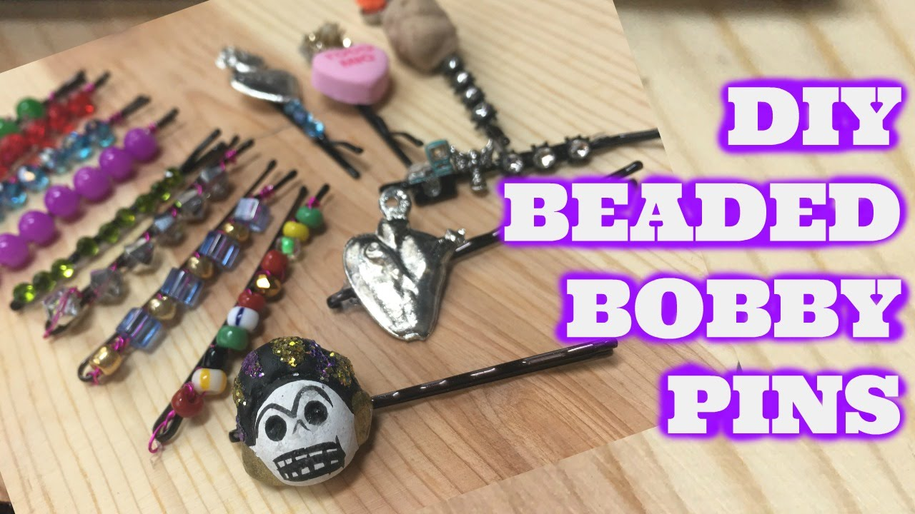 DIY Beaded Bobby Pins - YouTube