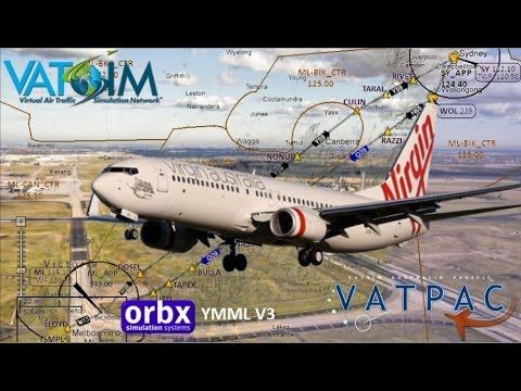 PMDG 737-800 Flies Vatsim Vatpac Milk Run Sydney To Melbourne