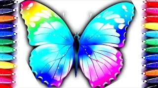Color For Children | Butterfly Coloring Pages | Barbie Coloring Book Fun Color| How to Paint
