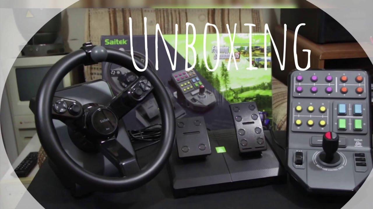unboxing volant saitek farming simulator 15 gold fr youtube. Black Bedroom Furniture Sets. Home Design Ideas