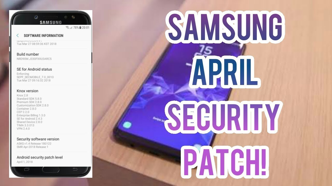 Samsung April 2018 Security Patch update I Galaxy J3 2017 Gets April Patch