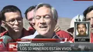 Confirmado: Los 33 mineros estan vivos!!!!