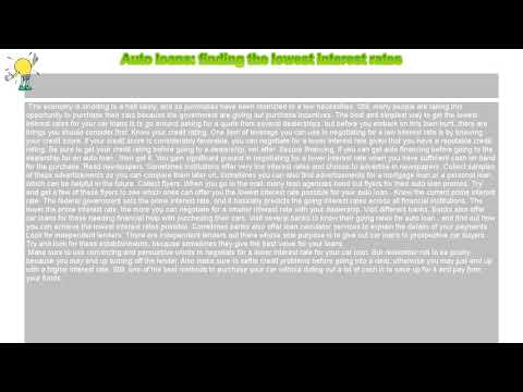 how-to-:-auto-loans:-finding-the-lowest-interest-rates