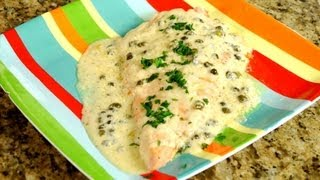 Salmon with Caper Sauce (easy and quick)