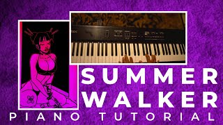 How To Play Playing Games Intro Guitar Part On Piano - Summer Walker Easy Piano Tutorial