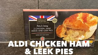 Aldi Chicken Ham Hock And Leek Pie Review Youtube