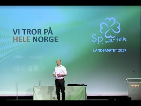 Partileder Trygve Slagsvold Vedums tale under Senterpartiets Landsmøte 2017