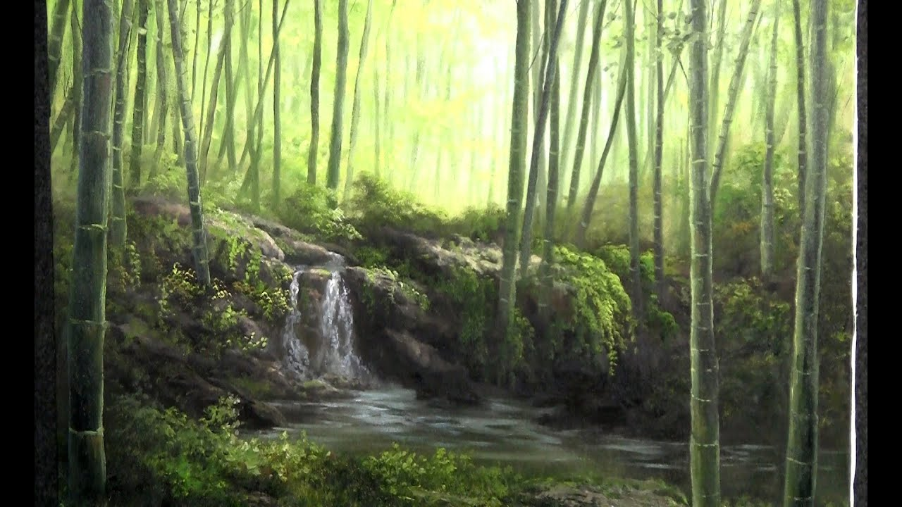 Nature Trees Oil Painting