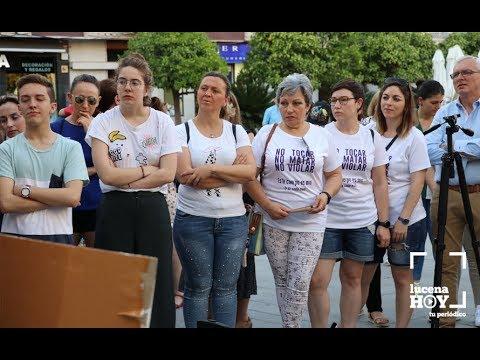 VÍDEO: Concentración de repulsa por la libertad provisional para los miembros de 'La Manada' en Lucena