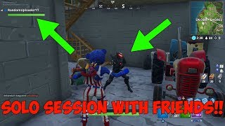 How To Get Into A Solo Session With Your Friends! - (Fortnite Battle Royale) *WORKING SEASON 9!*