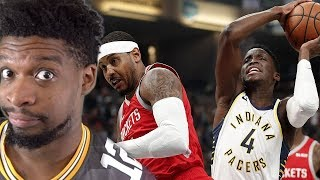 MELO GOING OUT SAD! ROCKETS vs PACERS HIGHLIGHTS