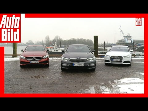 BMW 530d vs Mercedes E 350 d vs Audi A6 (2017) - Der Dienstwagen-Dreikampf - Review/Test