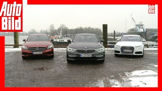 bmw 530d vs mercedes e 350 d vs audi a6 2017 der dienstwagen dreikampf review test