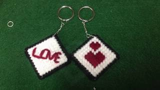 How to make Plastic Canvas: Key chain