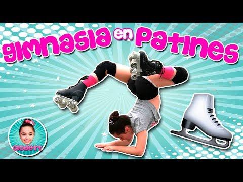 (*) ¡¡Mira lo que hago con mis PATINES!! ⛸ Split, Puente, Voltereta Lateral... ¡¡PATINAJE!!