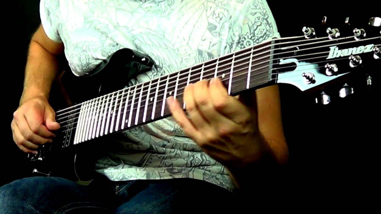 ibanez rg 9bk 9 string funk bass chord melody piece lee wrathe