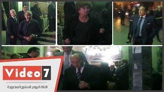 وزير الثقافة وجمال الشاعر وفريدة الشوباشى وعادل العدوى  يؤدون واجب العزاء فى الراحل فاروق شوشة