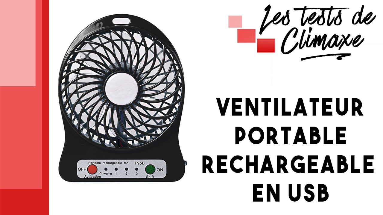 test d 39 un mini ventilateur usb noir marche aussi sur batterie youtube. Black Bedroom Furniture Sets. Home Design Ideas