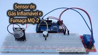 Sensor de Gás Inflamável e Fumaça MQ-2 para Arduino