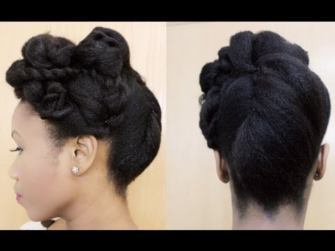 All Rolled Up Roll Tuck And Pin Updo On Natural Hair