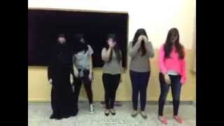 Repeat youtube video Girls dance at the university in Saudi Arabia is very sexy
