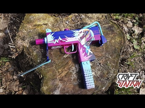 How To Make MAC-10 Neon Rider From CS:GO DIY