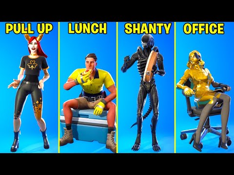Top 25 Legendary Fortnite Dances & Emotes! (Shanty For a Squad, Pull Up, Savage, Lunch Break,Say So)