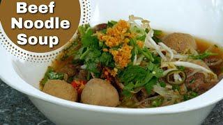 "Thai Food - Beef Noodle Soup ""gwau Teaw Neur"""