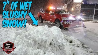 """7"""" Slushy Snow Storm - Crazy Wind and Rain, What A Mess 