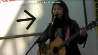 [Predebut] Juniel street performing in Japan - Everlasting Sunset