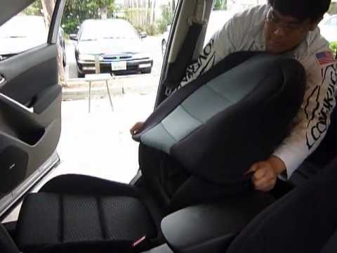 Coverking Custom Seat Cover Installation Front 50 50