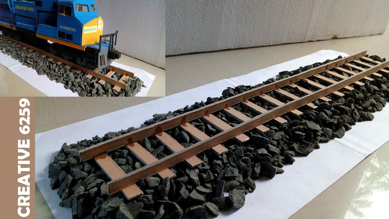 How To Make Train Track Using Cardboard - DIY Cardboard - How To Make RC  Train At Home