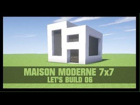 tuto maison moderne 7x7 sur minecraft youtube