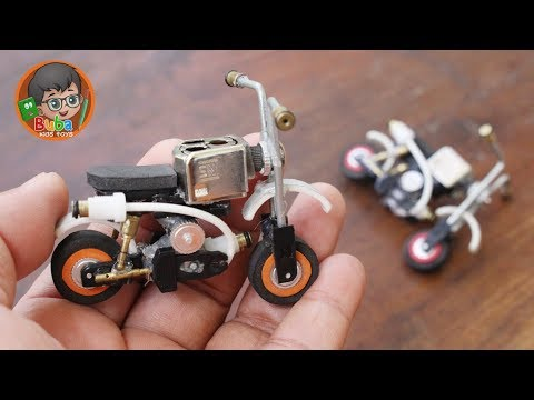 How to Make Toy Honda Monkey Motorcycle from unused Lighters - Buba Kids Toys