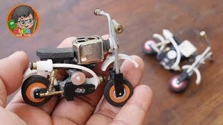 How to Make Toy Honda Monkey Motorcycle from cheap Lighters | Limbah Korek Gas