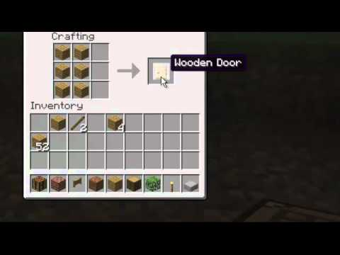 How To Make Door Fence Gate And Fence In Minecraft