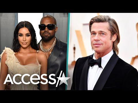 Brad Pitt Crashes Kim Kardashian And Kanye West's Date Night At Oscars Afterparty