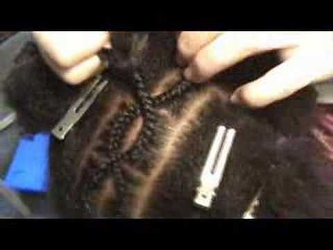 How To Do Criss Cross Cornrows Part 2 Youtube