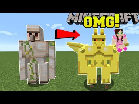 Minecraft: NEW IRON GOLEM?! (FLYING GARGOLYES WITH ABILITIES!) Mod Showcase