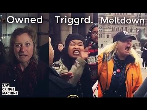 SJW Cringe Compilation #32 Women's March and Anti-trump - SJW CRINGE MACHINE