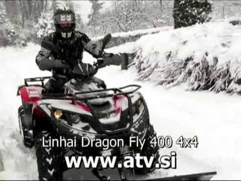 atv linhai dragon fly 400 4x4 snow plow youtube. Black Bedroom Furniture Sets. Home Design Ideas