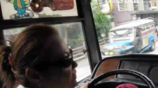 philstar.com video: Lady bus driver tries skills in Metro Manila streets