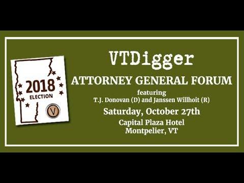 VTDigger 2018 Attorney General Forum